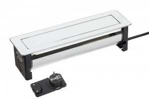 VersaTurn 3x 230V, 2xUSB +5V, fehér üveg