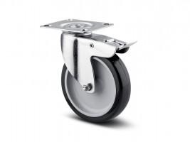 TENTE Forgó kerék 1477 fék, gumi futófelülettel, átmérő 75 mm