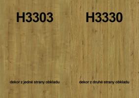 Zástěna H3303 ST10/H3330 ST36 4100/640/9,2