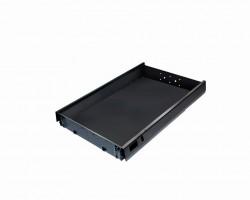 BBP-TipAer fiók 515 mm fém fekete fogantyú nélküli nyitás
