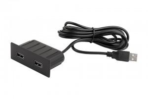 VersaPick, 2x USB, téglalap, fekete matt, spiáter