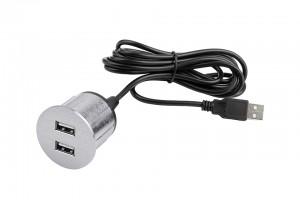 VersaPick, 2x USB, kerek, nemesacél, spiáter