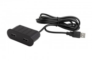 VersaPick, 2x USB, ovális, fekete matt, spiáter
