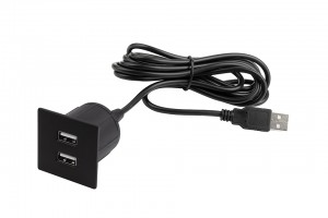 VersaPick, 2x USB, négyszögletes, fekete mat, spiáter