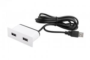 VersaPick, 2x USB, téglalap, fehér matt RAL 9003, spiáter