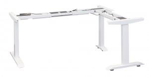 STRONG Elektromos állítható láb fehér sarokmegoldó RAL 9016 matt