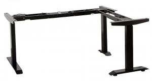 STRONG Elektromos állítható láb fekete sarokmegoldás 9005 matt