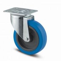 TENTE forgó kerék 3470 kék gumi futófelület,átmérő 100 mm,fék nélkül