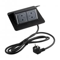 LEGRAND Pop-up v2, 2 x elektromos dugaszoló aljzat 230 V fekete matt