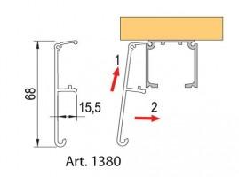 TERNO beltéri tolóajtó 40-120kg, takaró profil 1380/A/S 6m