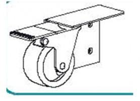TERNO görgő fékkel jobbra art. 306/D