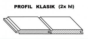 HAJÓPADLÓ RT Fenyő KLASIK 2x hl 4000/96/19
