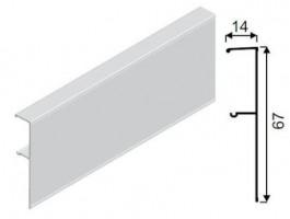 SEVROLL takaró profil Galaxy 1,5m ezüst