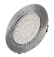 LED spotlámpa Oval nemesacél csiszolt meleg fehér