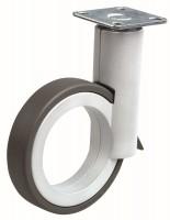 OGTM Kerék Rotola 90 mm, alumínium, gumi futófelülettel szürke