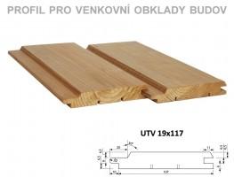 Palubky fasáda Borovice ThermoWood Tatran (UTV) 4200/117/19