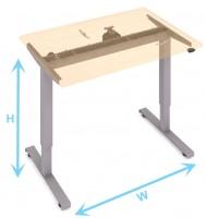 Elektromos meghajtású asztal lábazatok 680-1180 ezüst
