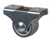 STRONG Kerék 25 mm, szürke, rögzített, puha futófelület