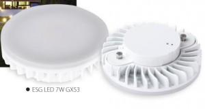 SK-fényforrás ESG LED 7W GX53-WW meleg fehér