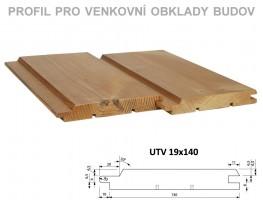 Palubky fasáda Borovice ThermoWood Tatran (UTV) 4200/140/19