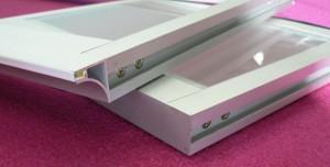 S-LED alj típus AII 664x296mm 24W alu hideg fehér
