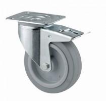 TENTE Forgó kerék 3477 fék, gumi futófelülettel, átmérő 100 mm