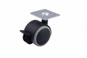 Kerék gumi futófelülettel fékkel 40 mm fekete