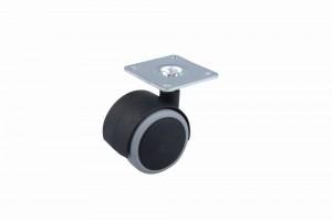 Kerék gumi futófelülettel lemezzel 40 mm fekete