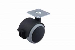 Kerék gumi futófelülettel fékkel 50 mm fekete