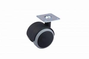 Kerék gumi futófelülettel lemezzel 50 mm fekete